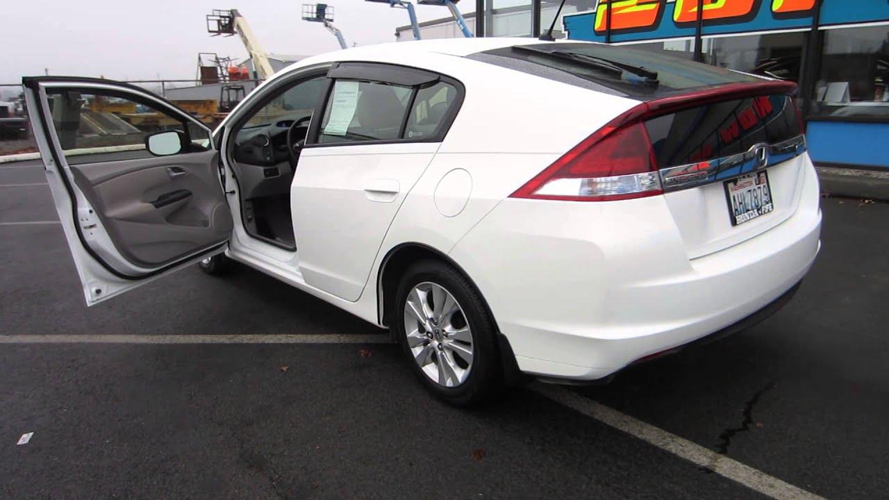 2012 Honda Insight Taffeta White Stock 731325 Walk Around Youtube