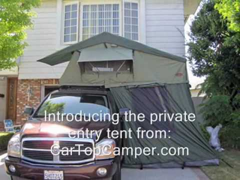 & Car Top Camper Roof Top Tent - 2-6 person private entry tent - YouTube