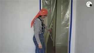 видео Как подготовить стены под покраску без строительной пыли?