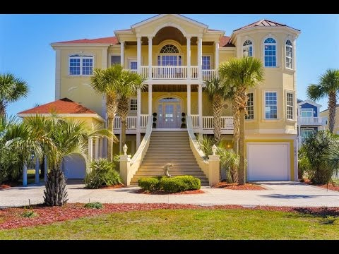 Custom Built Mediterranean Style Home In Ocean Isle Beach North Carolina