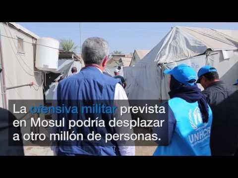 Filippo Grandi visita el campo de Al Khadra, Irak