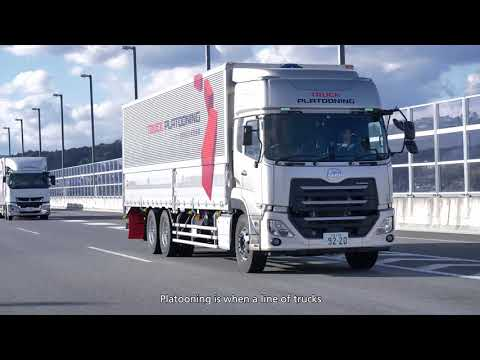 UD Trucks - Platooning trial on Japanese highway