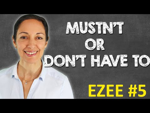 Common mistakes | 'must' & 'have to' | Speak English with confidence (EZEE #5)