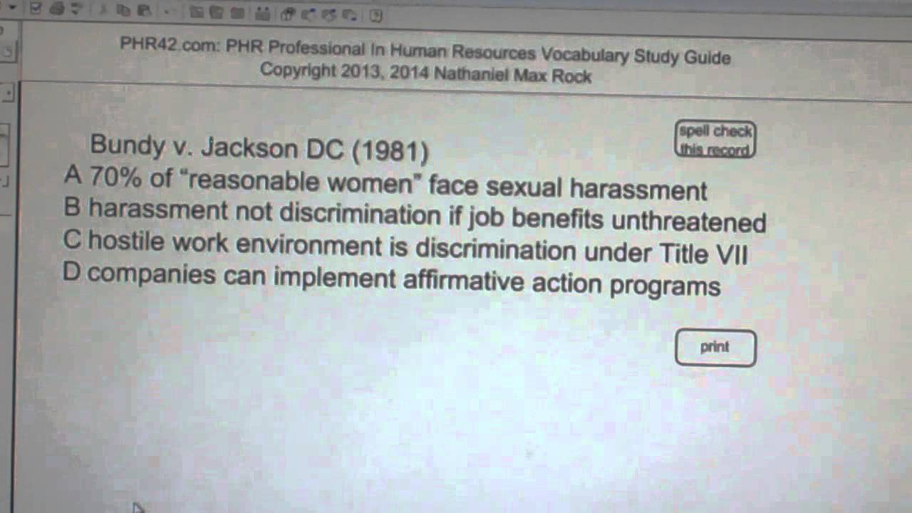 Bundy v jackson dc 1981 phr sphr professional in human jackson dc 1981 phr sphr professional in human resources license exam vocabubee 1betcityfo Image collections