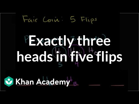 Exactly three heads in five flips | Probability and Statistics | Khan Academy