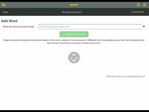 Dragon Anywhere: Feature Demo - Train Words