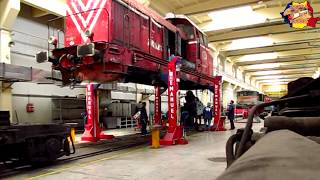 Repairs on a Diesel-Hydraulic Locomotive - Transmission Change [2013]