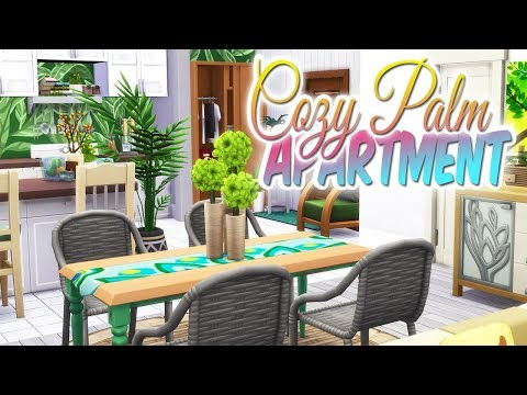 COZY GREEN PALM APARTMENT Makeover | The Sims 4: RENOVATION 17 CULPEPPER HOUSE