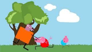 Свинки из черноБЛЯ - заставка - детский мультфильм раскраски той чика  плейдо обзор игрушки слаймы