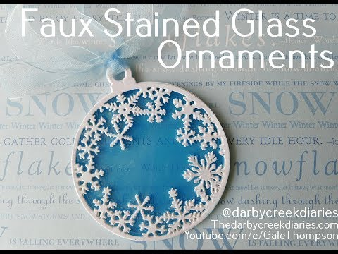 Faux Stained Glass Ornaments:  Christmas In July Hop!