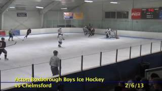 Acton Boxborough Varsity Boys Hockey vs Chelmsford 2/6/13