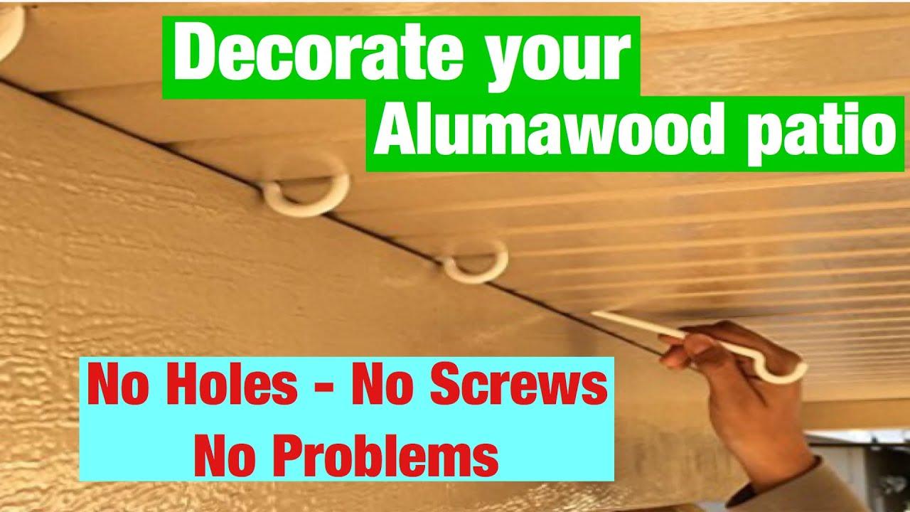 Alumahooks By Alumahangers For Your Alumawood Patio Cover Youtube