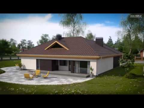 Проекты Z500 - проект одноэтажного дома Z144