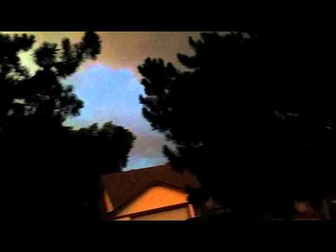 Close lightning strike in Arvada