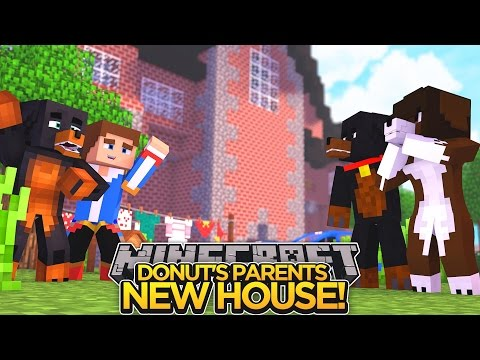 SURPRISE FOR DONUT'S PARENTS!! - Minecraft - Little Donny Adventures.
