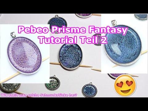 Tutorial | Pebeo Prisme Fantasy | Schuppeneffekt | Anleitung in Deutsch | Teil 2