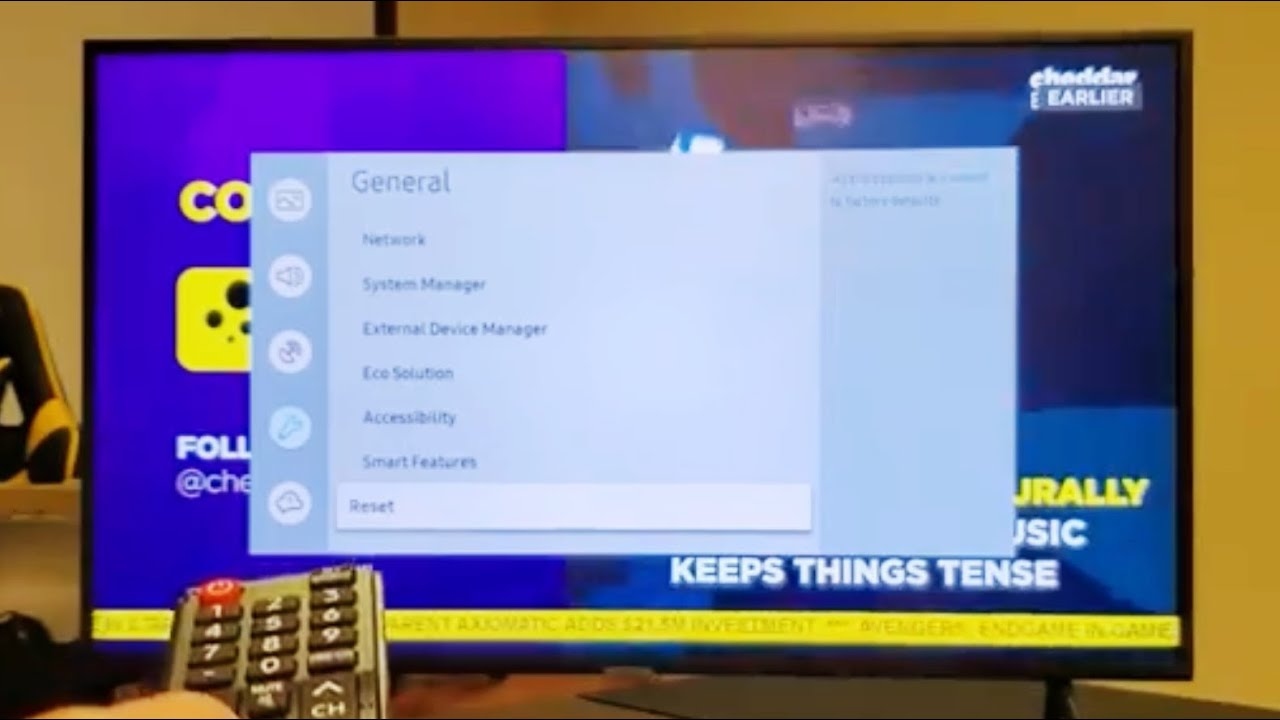 How to Factory Reset (Back to Original Settings) on Samsung Smart TV