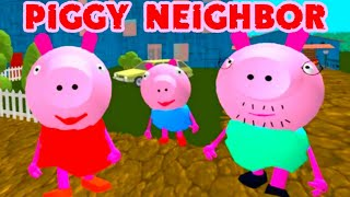 PIGGY Neighbor Family Escape Obby House 3D [Level 1 - 3] Gameplay - Walkthrough - Android - IOS