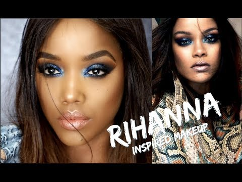 RIHANNA INSPIRED MAKEUP & Fenty Galaxy Palette Review | Ellarie
