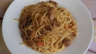 Спагетти с арахисовым соусом