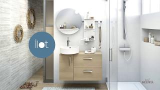 Ligne de meubles de salle de bains Ilot de Delpha