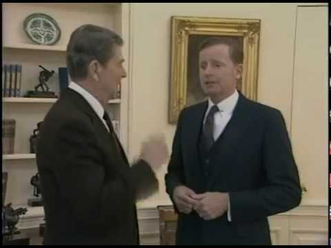 President Reagan's Photo Ops. In the Oval Office and Roosevelt Room on March 3, 1986