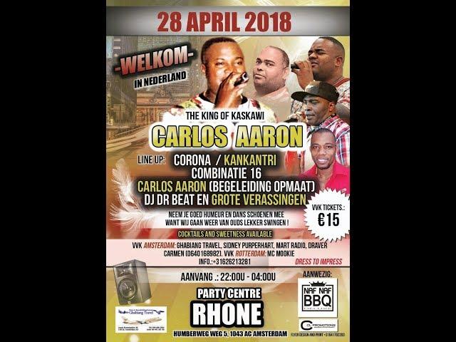 **28 April 2018** Welkom Carlos Aaron te @Rhone onder begeleiding van Kaskawina Formatie OpMaat
