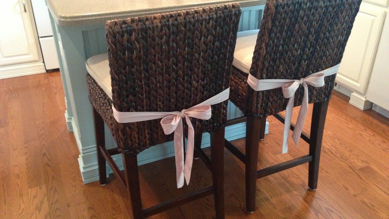 Seagrass bar stools