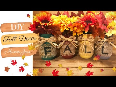 DIY Fall Decor - Pinterest inspired Mason Jars | kzvDIY