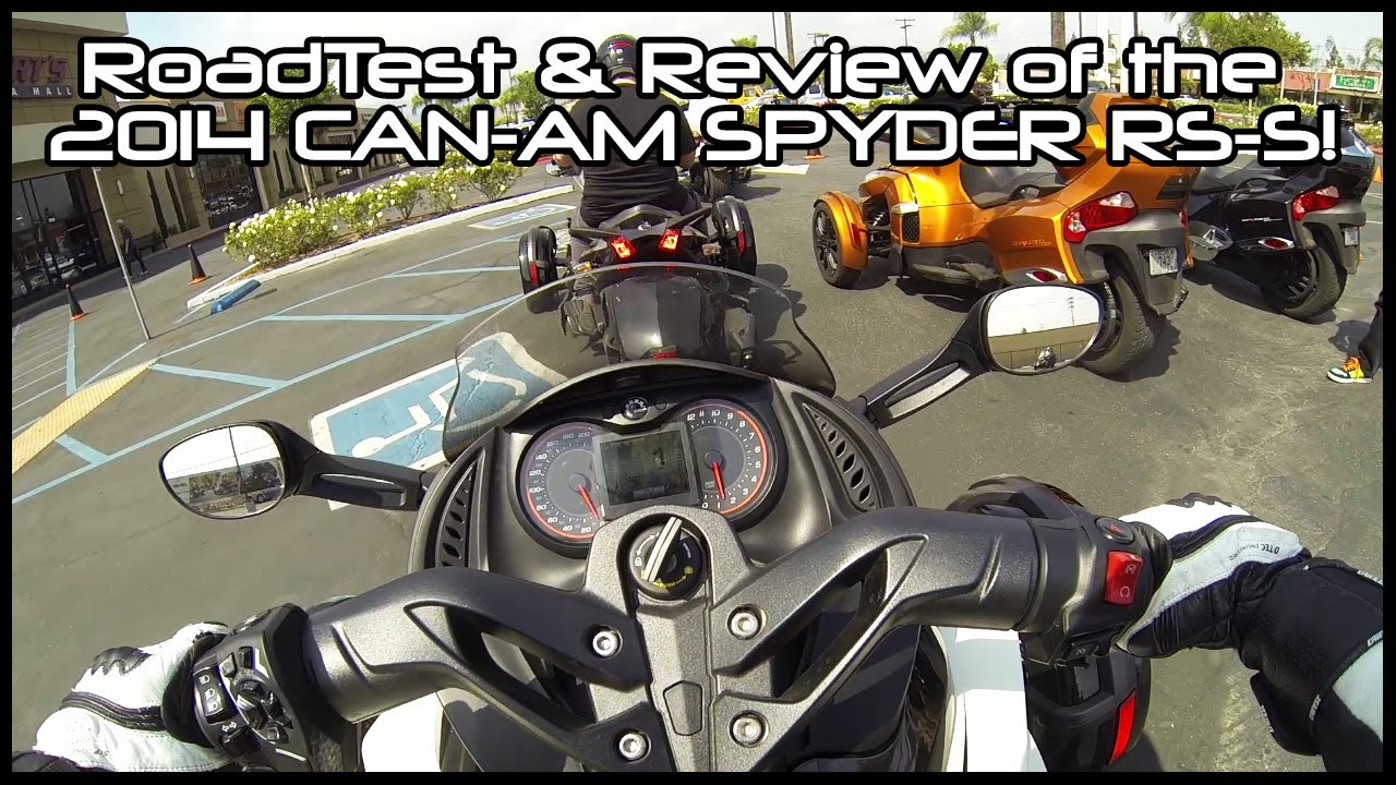 Road-Test & Review: 2014 Can-Am Spyder RS-S! - YouTube
