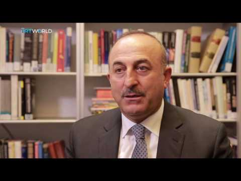 Turkish Foreign Minister Cavusoglu talks about US-led coalition's lack of support against PKK, PYD
