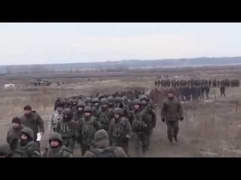 Ukrainian National Guard troops shot of the APCs and grenade training target
