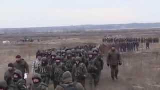 Ukrainian National Guard troops shot of the APCs and grenade training target