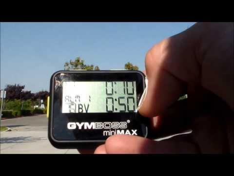 Gymboss timer rundown