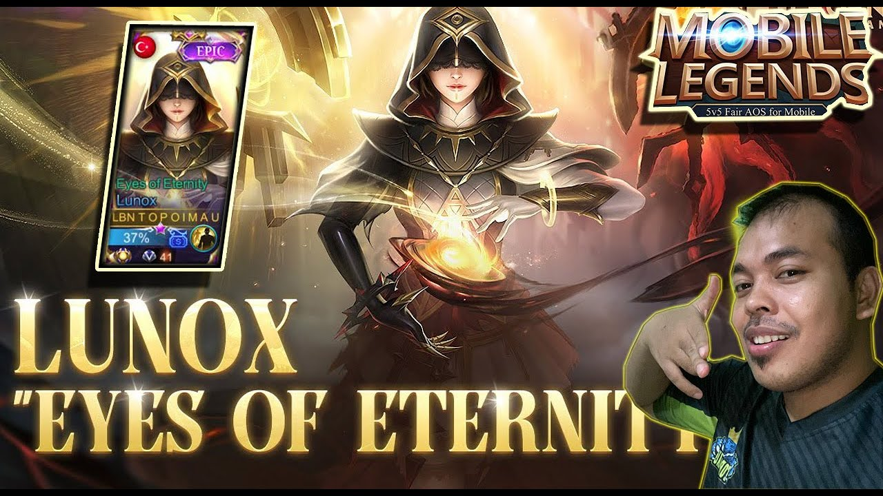 """REVIEW SKIN EPIC LUNOX """"EYES OF ETERNITY"""", AUTO KERASUKAN PRO PLAYER TOP  GLOBAL ! - MOBILE LEGENDS"""