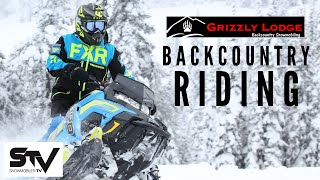Snowmobiler Television - Backcountry riding with Grizzly Lodge