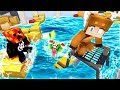 MINECRAFT ESCAPE - YOUTUBERS vs GIANT TSUNAMI! (With UNSPEAKABLEGAMING & PRESTONPLAYZ)
