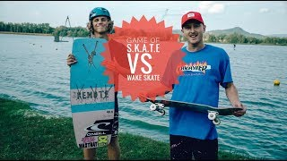 GAME OF S.K.A.T.E. SKATEBOARD vs WAKE SKATE NA VODĚ ???!!!