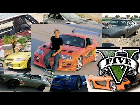 GTA 5 Fast And Furious Cars - GTA V F&F Cars Remake - YouTube