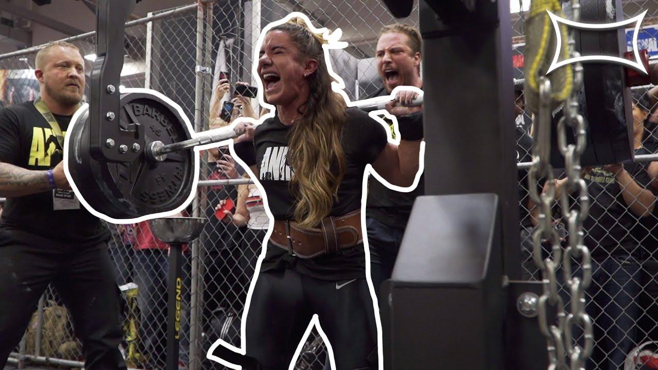 120lb Woman Squats 495lbs!! | World Record!