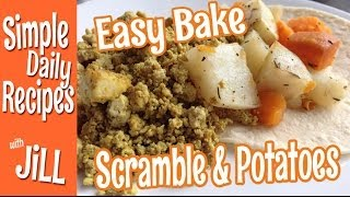 Baked Tofu Scramble And Potatoes