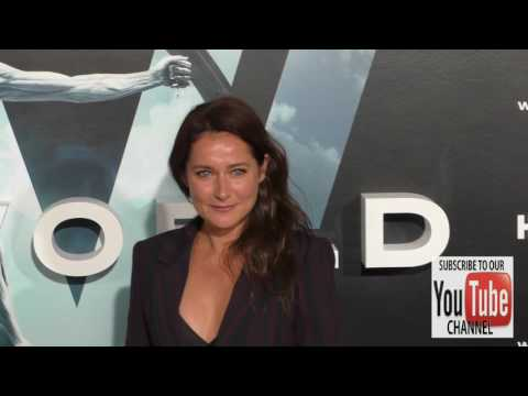 Sidse Babett Knudsen at the HBO Premiere of Westworld at TCL Chinese Theatre in Hollywood