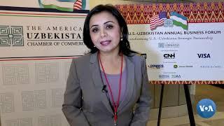 Amerika-O'zbekiston biznes forumidan maxsus lavha
