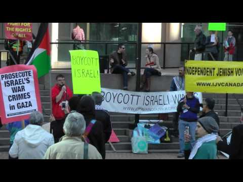Palestine Solidarity Rally Vancouver Oct 23 Opening