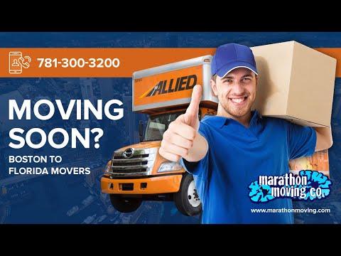 Boston to Florida Movers   781-300-3200   Marathon Moving & Storage - Видео онлайн