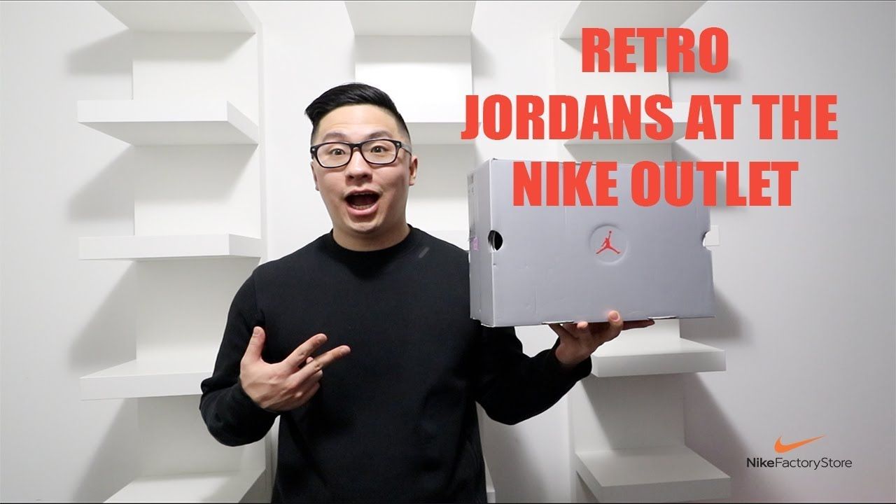 30a6cffe582 Jordan Retros at the Nike Outlet   Vaughan Mills - YouTube
