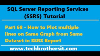 SSRS Tutorial 68 - How to Plot multiple lines on Same Graph from Same Dataset in SSRS Report