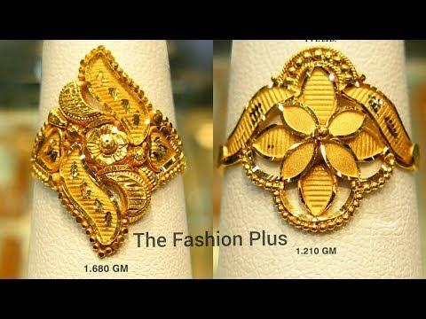 Latest Pure Gold Rings Designs Under 5 Gram Youtube