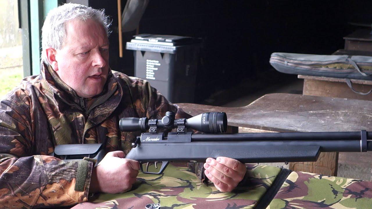 The Benjamin Marauder pre-charger air rifle