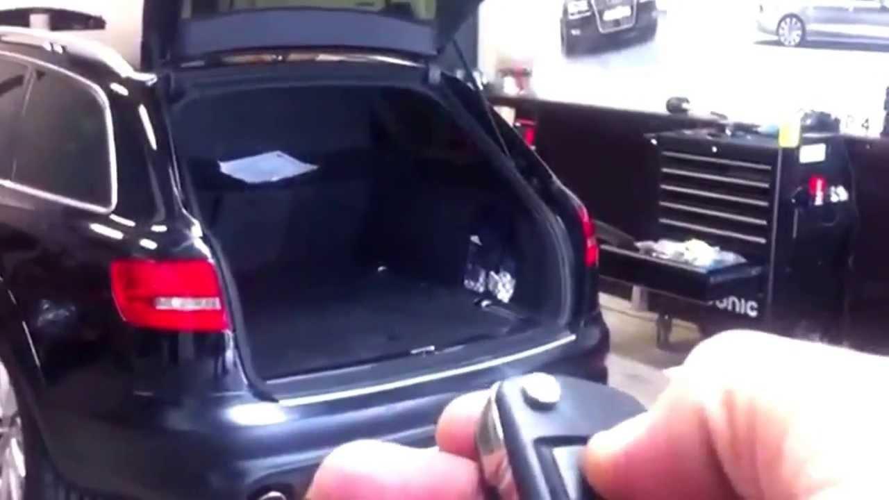 Comfort Module Kofferklep Audi A6 4f Allroad Youtube